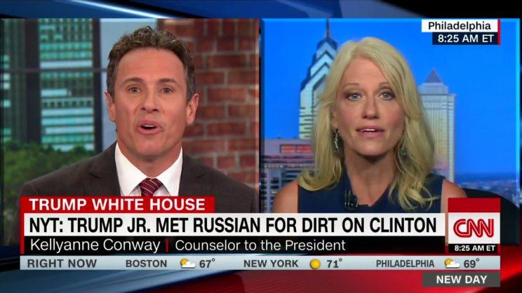 Chris Cuomo and Kellyanne Conway on CNN Monday
