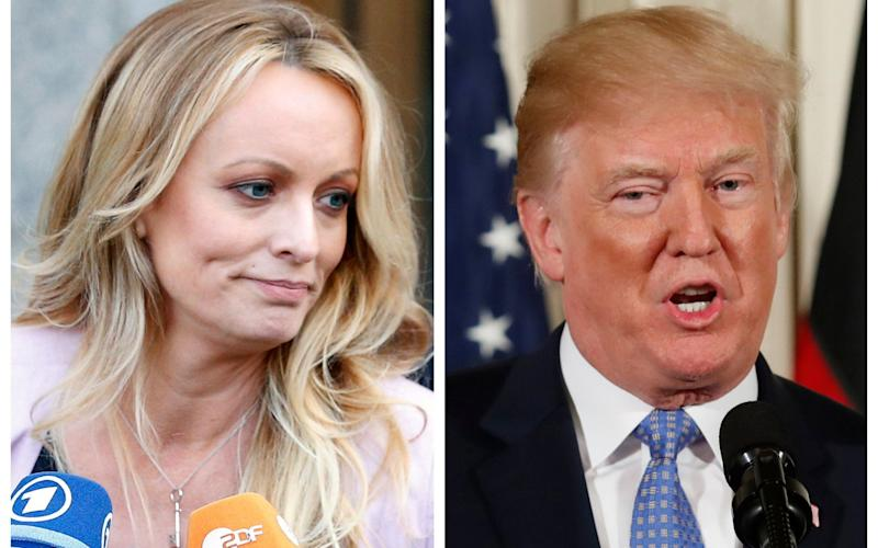 The porn star claims she had an affair with Donald Trump in 2006 - REUTERS