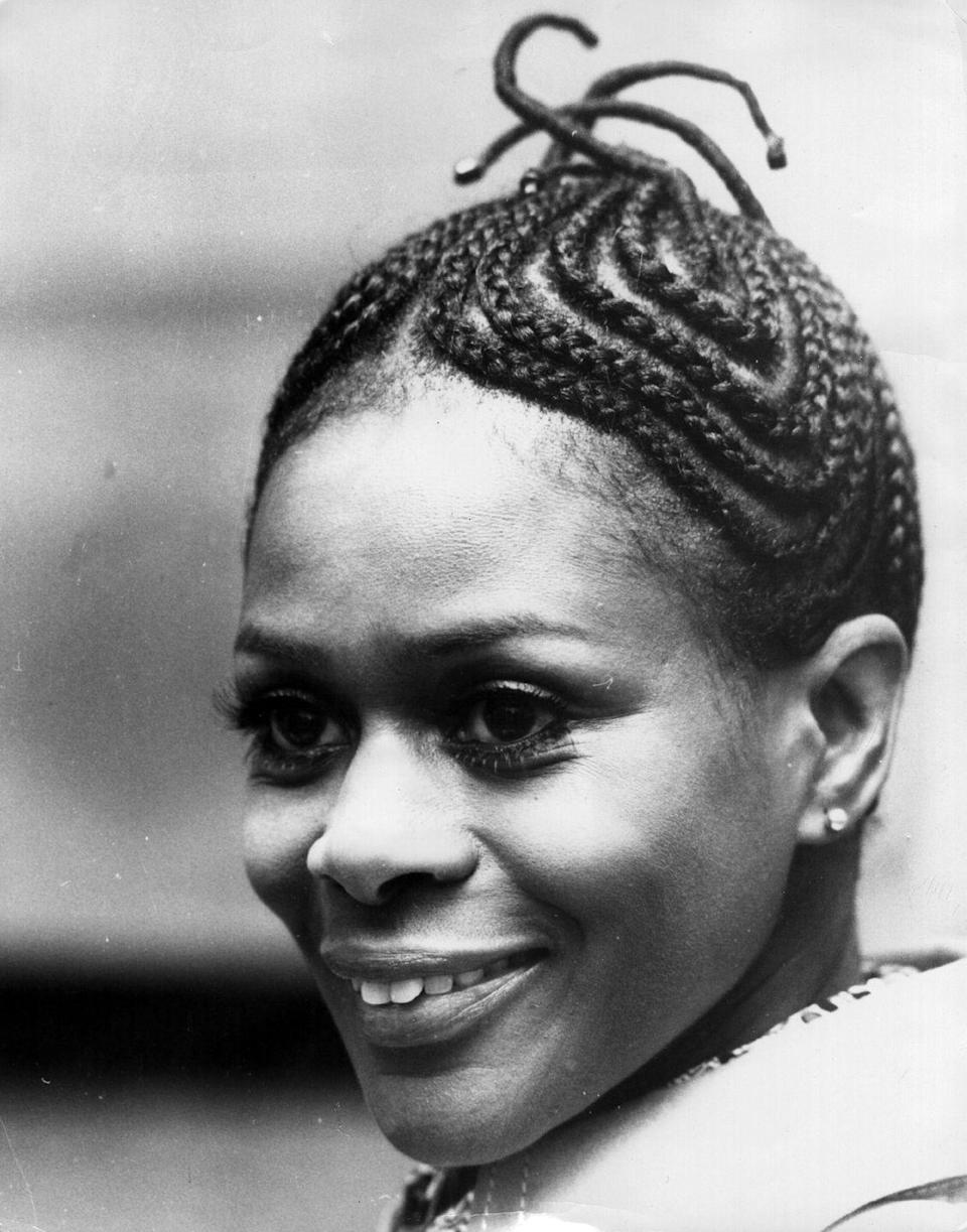 """<p>Actress Cicely Tyson once again inspired a beauty trend by wearing her hair in cornrows for her role in Sounder, leading the <a href=""""http://www.goodhousekeeping.com/beauty/hair/tips/g1894/celebrity-hairstyles-braids/"""" rel=""""nofollow noopener"""" target=""""_blank"""" data-ylk=""""slk:braided style"""" class=""""link rapid-noclick-resp"""">braided style</a> into popularity.</p>"""