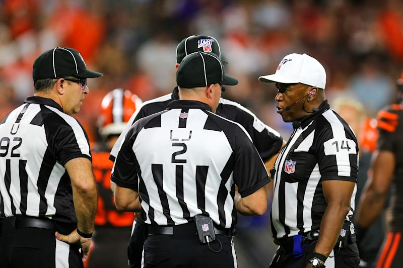 The NFL won't have to worry about finding replacement refs for a while. (Photo by Frank Jansky/Icon Sportswire via Getty Images)