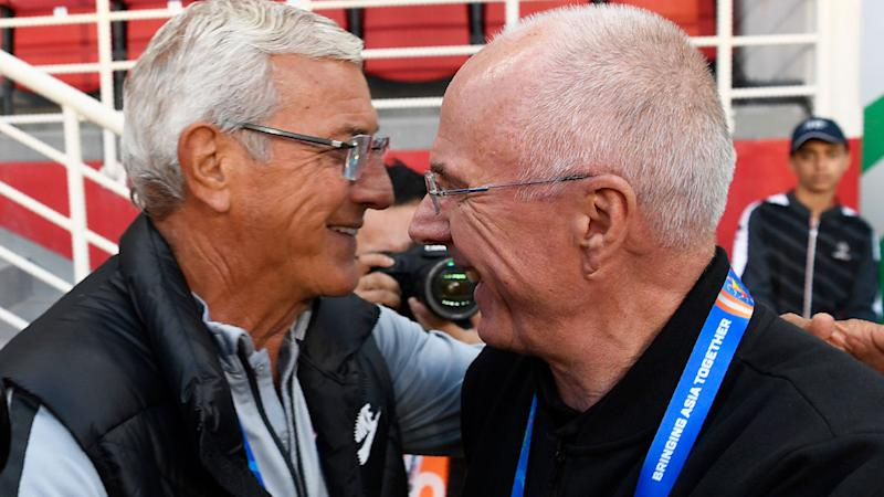 Pictured here, veteran coaches Marcello Lippi, left, and Sven-Goran Eriksson.