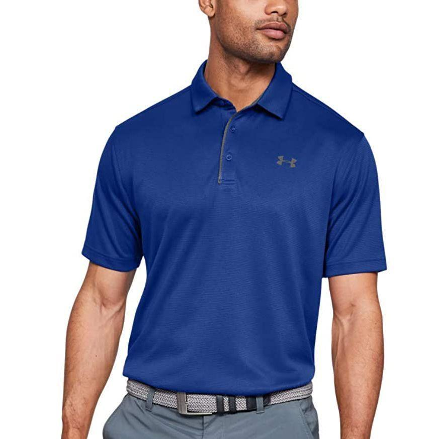 """<p><strong>Under Armour</strong></p><p>amazon.com</p><p><strong>$32.99</strong></p><p><a href=""""https://www.amazon.com/dp/B01GH5G4A6?tag=syn-yahoo-20&ascsubtag=%5Bartid%7C2141.g.27760489%5Bsrc%7Cyahoo-us"""" rel=""""nofollow noopener"""" target=""""_blank"""" data-ylk=""""slk:Shop Now"""" class=""""link rapid-noclick-resp"""">Shop Now</a></p><p>If Dad's always heading to the back nine, gift him a polo that'll make him look like a pro. This Under Armour shirt features light, breathable fabric that wicks away sweat and blocks odor—a must for warmer months.</p>"""