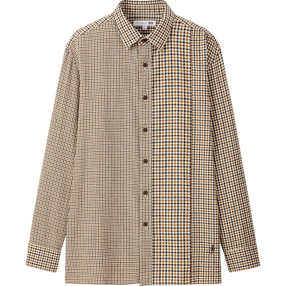"""<p>uniqlo.com</p><p><strong>$39.90</strong></p><p><a href=""""https://go.redirectingat.com?id=74968X1596630&url=https%3A%2F%2Fwww.uniqlo.com%2Fus%2Fen%2Fmen-flannel-checked-long-sleeve-shirt-jw-anderson-431732.html&sref=https%3A%2F%2Fwww.esquire.com%2Fstyle%2Fmens-fashion%2Fg34384963%2Funiqlo-jw-anderson-fall-winter-2020-collection%2F"""" rel=""""nofollow noopener"""" target=""""_blank"""" data-ylk=""""slk:Shop Now"""" class=""""link rapid-noclick-resp"""">Shop Now</a></p>"""