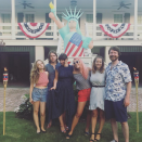 """<p>With Lady Liberty standing behind her and pink hair to boot, how could the <em>Vice Principals</em> actress not feel patriotic. (Photo: <a rel=""""nofollow noopener"""" href=""""https://www.instagram.com/p/BWJOY8bByLP/?taken-by=busyphilipps&hl=en"""" target=""""_blank"""" data-ylk=""""slk:Busy Philipps via Instagram"""" class=""""link rapid-noclick-resp"""">Busy Philipps via Instagram</a>) </p>"""
