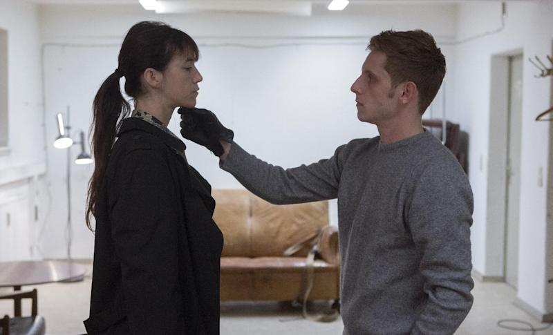 """This image released by Magnolia Pictures shows Charlotte Gainsbourg, left, and Jamie Bell in a scene from """"Nymphomaniac."""" (AP Photo/Magnolia Pictures, Christian Geisnaes)"""