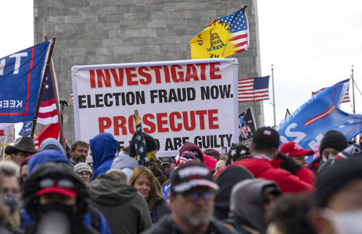 "Crowds gather outside the U.S. Capitol for the ""Stop the Steal"" rally on January 06, 2021 in Washington, DC. (Robert Nickelsberg/Getty Images)"