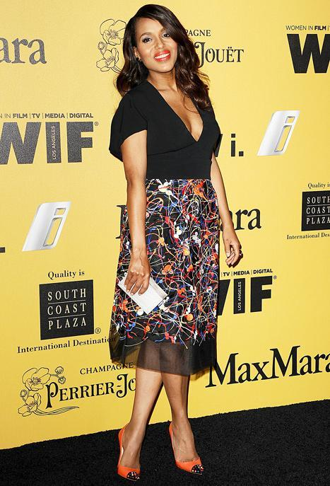 Kerry Washington Stuns on First Red Carpet Since Giving Birth: Post-Baby Body Picture