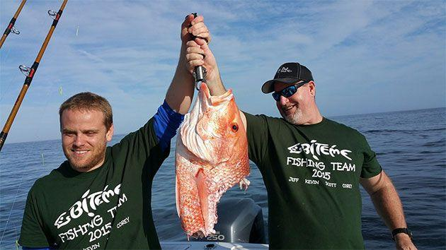 This is what is believed to be the remains of the Red Snapper after the shark gulped half of it whole. Photo: Supplied