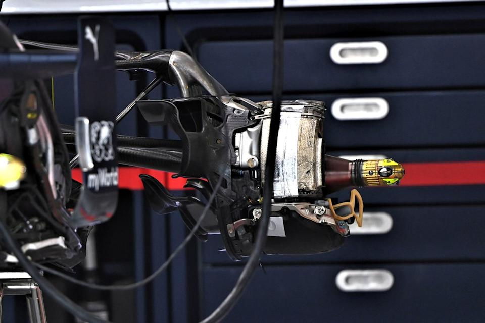"Red Bull Racing RB16 rear brake detail<span class=""copyright"">Giorgio Piola</span>"