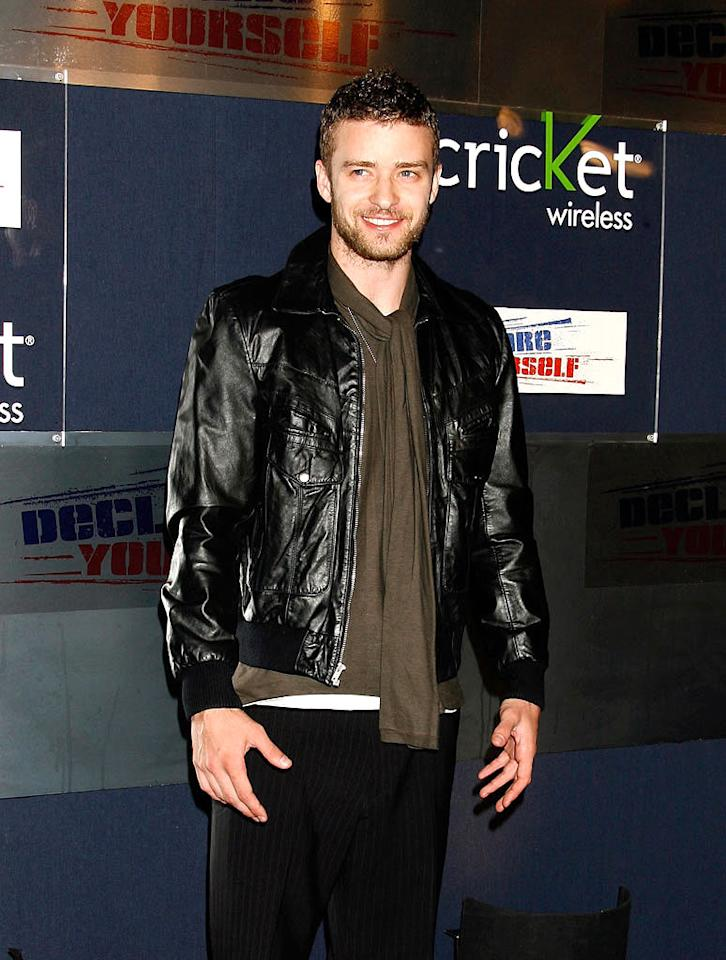 """Justin Timberlake's stubble certainly suits him now that he's no longer in a boy band. Jeffrey Mayer/<a href=""""http://www.wireimage.com"""" target=""""new"""">WireImage.com</a> - September 27, 2007"""
