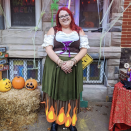 """<p>For a unique spin on a store-bought witch costume, add felt flames. Is it a little dark, sure—but it is Halloween, after all. Simply cut orange and yellow flames, then hot glue them onto the bottom of the dress. </p><p><a class=""""link rapid-noclick-resp"""" href=""""https://www.amazon.com/California-Costumes-Womens-Renaissance-Burgundy/dp/B00CAA25CY/?tag=syn-yahoo-20&ascsubtag=%5Bartid%7C10072.g.33534666%5Bsrc%7Cyahoo-us"""" rel=""""nofollow noopener"""" target=""""_blank"""" data-ylk=""""slk:SHOP RENAISSANCE DRESS"""">SHOP RENAISSANCE DRESS</a></p><p><a class=""""link rapid-noclick-resp"""" href=""""https://www.amazon.com/Acrylic-Nonwoven-Patchwork-Costumes-6-Halloween/dp/B084Q9H5GD?tag=syn-yahoo-20&ascsubtag=%5Bartid%7C10072.g.33534666%5Bsrc%7Cyahoo-us"""" rel=""""nofollow noopener"""" target=""""_blank"""" data-ylk=""""slk:SHOP ORANGE FELT"""">SHOP ORANGE FELT</a></p><p><a class=""""link rapid-noclick-resp"""" href=""""https://www.amazon.com/Sax-Synthetic-Decorator-Felt-Yellow/dp/B0042SUA1A/?tag=syn-yahoo-20&ascsubtag=%5Bartid%7C10072.g.33534666%5Bsrc%7Cyahoo-us"""" rel=""""nofollow noopener"""" target=""""_blank"""" data-ylk=""""slk:SHOP YELLOW FELT"""">SHOP YELLOW FELT</a></p>"""