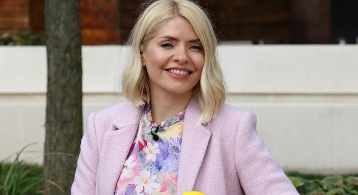 Holly Willoughby reveals she cannot live without Caudalie's Beauty Elixir, which she spritzes on her face in the mornings before appearing on This Morning. (Getty Images)