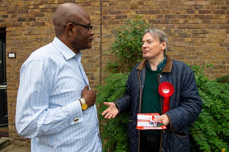 Labour's Ross Houston speaks with Jean Tono (Lucy Young)