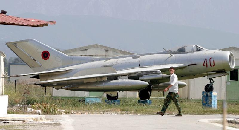 The auction by the Albanian defence ministry will include dozens of MiG-19 (pictured), MiG-17 and MiG-21 fighter planes, once the jewels of the Albanian army