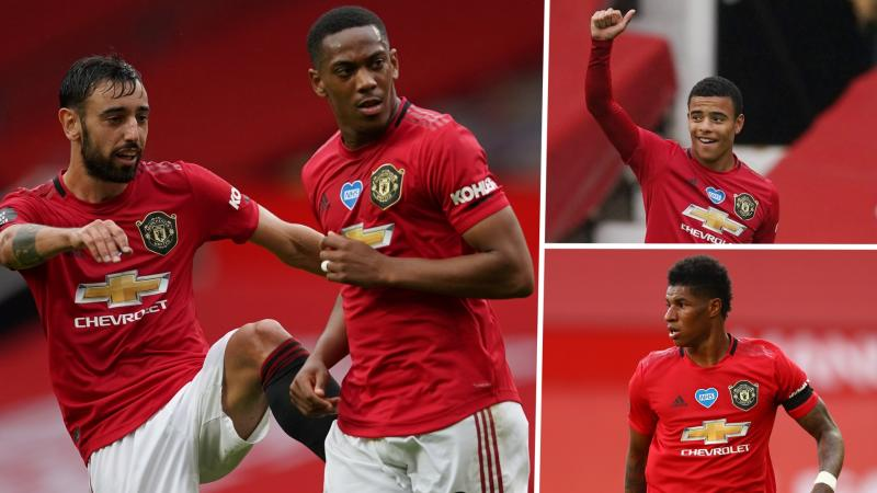 'Man Utd's front three is as good as City's and Liverpool's' – Neville hails Rashford, Martial and Greenwood