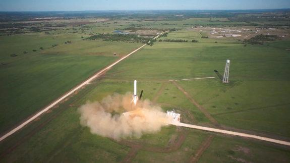 SpaceX's Grasshopper 10-story Vertical Takeoff Vertical Landing (VTVL) vehicle took off on its 820-foot (250 meters) test flight on April 19, 2013.