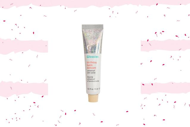"<p>This multitasking salve has a subtle hint of shimmer and works just as lovingly on eyelids as it does on lips. $12, <a href=""https://www.glossier.com/products/balm-dotcom"" rel=""nofollow noopener"" target=""_blank"" data-ylk=""slk:glossier.com"" class=""link rapid-noclick-resp"">glossier.com</a> (Photo: Glossier/Getty) </p>"