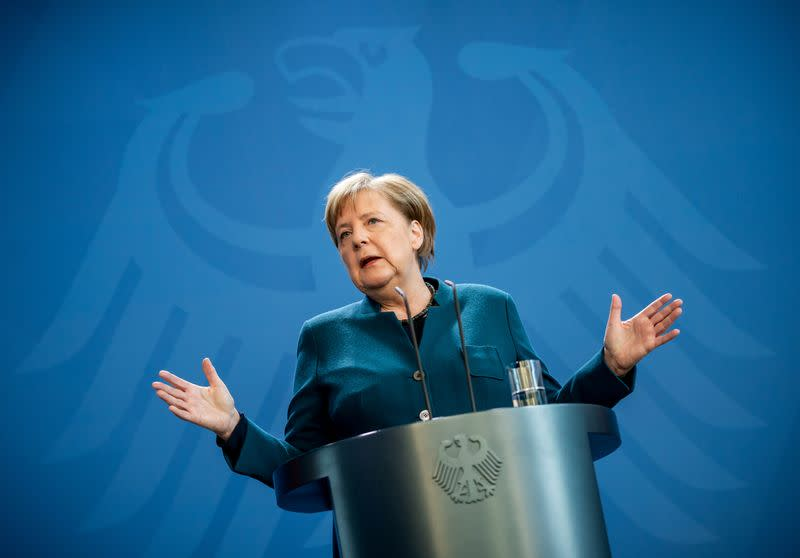 German vice-chancellor says Merkel is healthy but working from home
