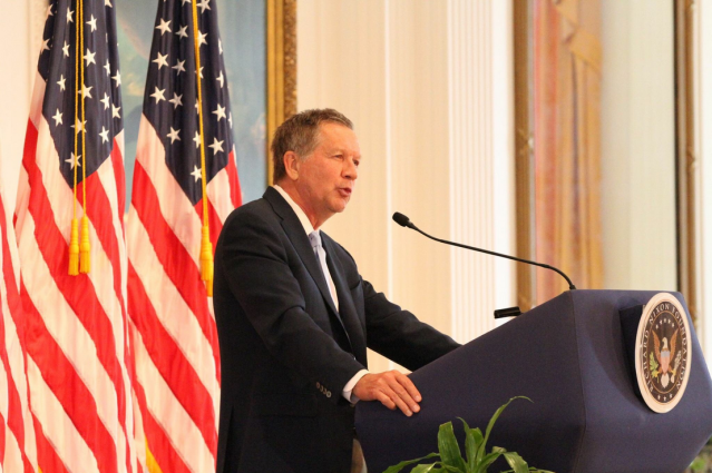 Ohio Gov. John Kasich speaks at the Nixon library on May 5. (Photo: Courtesy of the Nixon Foundation)