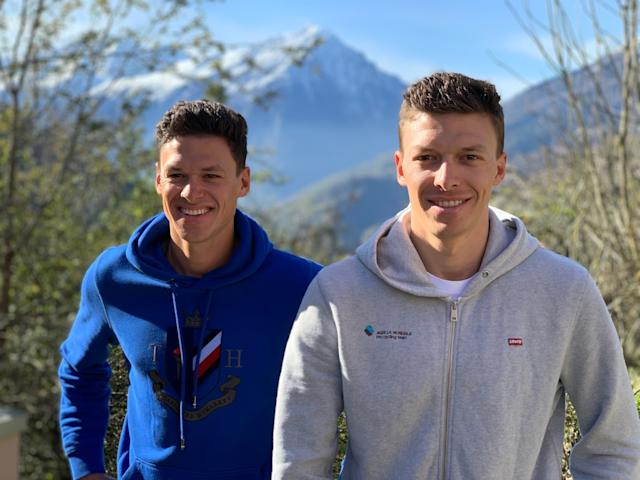 Naesen now has his brother, Lawrence (left), with him at AG2R