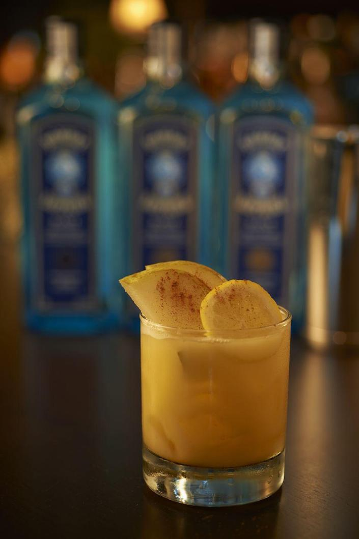 """<p><strong>Ingredients</strong></p><p>2 parts Bombay Sapphire East gin<br>.75 part pumpkin puree<br>.5 part Xanté pear brandy liqueur<br>.5 part simple syrup<br>.75 part lemon juice<br>.5 part egg white</p><p><strong>Instructions</strong></p><p>Combine all ingredients in a shaker tin with ice. Shake hard and serve up or down in a glass rinsed with Dewars 12.</p><p><a class=""""link rapid-noclick-resp"""" href=""""https://go.redirectingat.com?id=74968X1596630&url=https%3A%2F%2Fdrizly.com%2Fbombay-sapphire-east%2Fp8532%3Fis_autocomplete%3Dtrue&sref=https%3A%2F%2Fwww.townandcountrymag.com%2Fleisure%2Fdrinks%2Fg2839%2Fhalloween-drinks%2F"""" rel=""""nofollow noopener"""" target=""""_blank"""" data-ylk=""""slk:Buy Now"""">Buy Now</a> Bombay Sapphire East gin, from $15.99</p><p><a class=""""link rapid-noclick-resp"""" href=""""https://go.redirectingat.com?id=74968X1596630&url=https%3A%2F%2Fdrizly.com%2Fxante-pear-liqueur%2Fp5397&sref=https%3A%2F%2Fwww.townandcountrymag.com%2Fleisure%2Fdrinks%2Fg2839%2Fhalloween-drinks%2F"""" rel=""""nofollow noopener"""" target=""""_blank"""" data-ylk=""""slk:Buy Now"""">Buy Now</a> Xanté pear brandy liqueur, from $16.99<br></p>"""