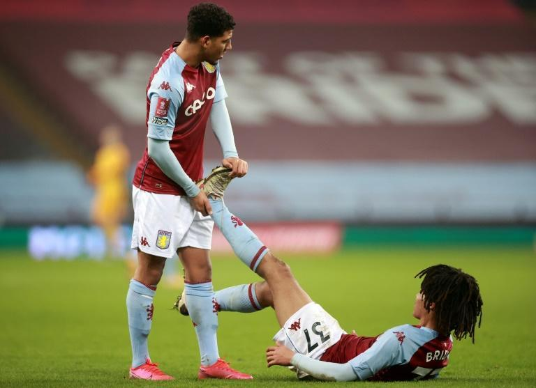 Young at heart: Aston Villa's Callum Rowe and Mungo Bridge