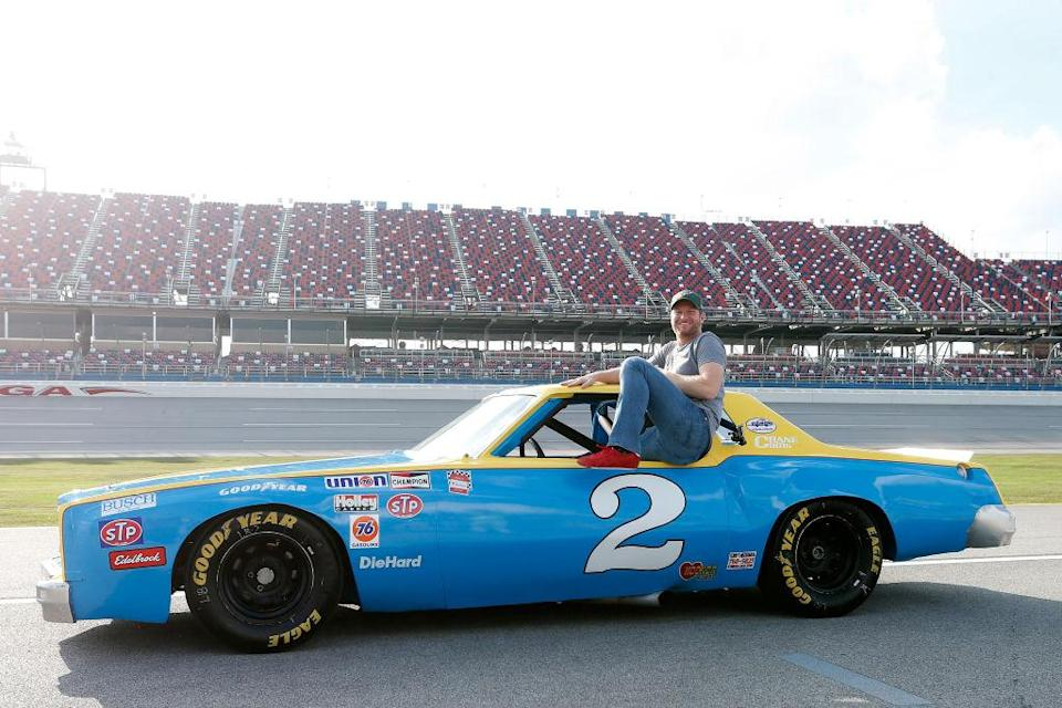 Dale Earnhardt Jr. in his father's car. (Getty)