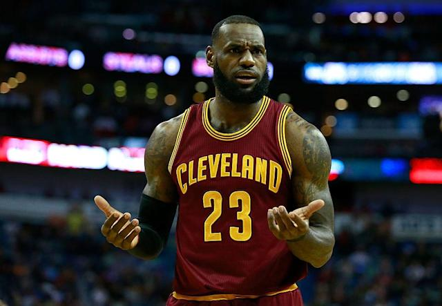 LeBron James is confounded. (Getty Images)