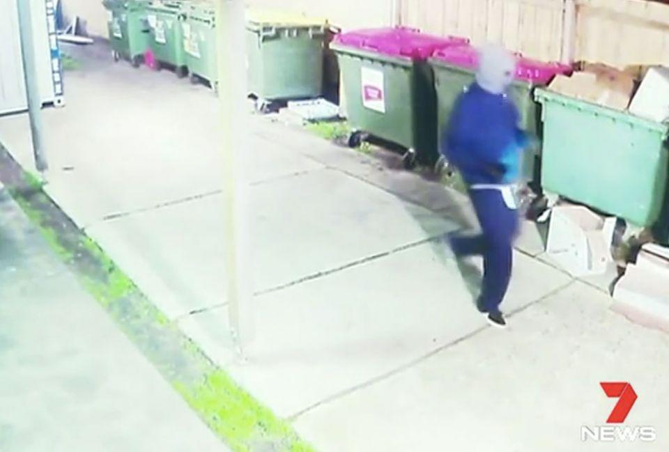 The baker was chased by a man wielding a meat cleaver. Photo: 7 News