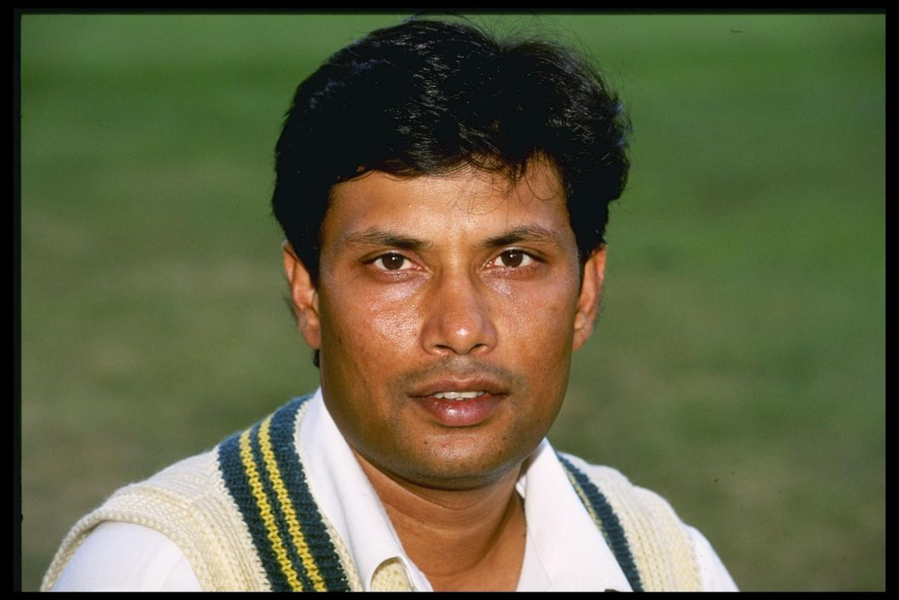 Jun 1996:  A portrait of Asif Mujtaba of Pakistan during the nets at Lords cricket ground, London. Mandatory Credit: Graham Chadwick/Allsport UK