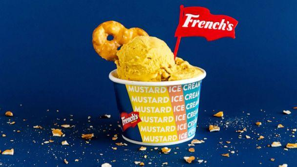 PHOTO: French's collaborated with Coolhaus to develop a yellow mustard ice cream. (French's )