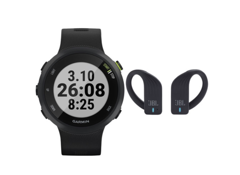Garmin Forerunner 45 42mm GPS Watch with JBL In-Ear Wireless Sport Headphones (Image via Best Buy Canada).