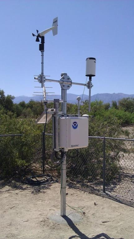 The sensor that recorded a temperature of 130 degrees Fahrenheit (54.4 degrees Celsius) on August 16, 2020 in Death Valley National Park, California
