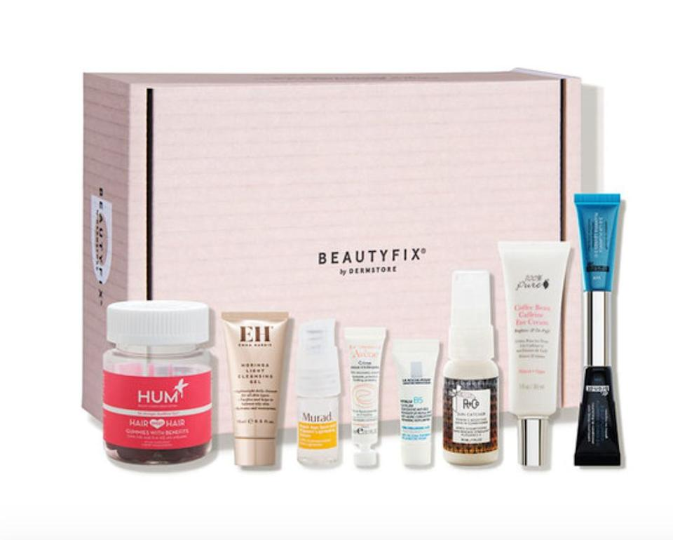 """You might have already turned to <a href=""""https://fave.co/3ejdOjo"""" target=""""_blank"""" rel=""""noopener noreferrer"""">Dermstore</a>for your favorite skin care. The beauty brand has its own subscription box called <a href=""""https://fave.co/3ejdOjo"""" target=""""_blank"""" rel=""""noopener noreferrer"""">BeautyFIX</a>. Each month, you get full and deluxe travel-sized samples of six products and can sometimes save on getting the full-size version of your favorites. A <a href=""""https://fave.co/3ejdOjo"""" target=""""_blank"""" rel=""""noopener noreferrer"""">subscription</a>is $25 a month.<br /><br />Check out <a href=""""https://fave.co/3ejdOjo"""" target=""""_blank"""" rel=""""noopener noreferrer"""">Dermstore'sBeautyFIXsubscription</a>."""