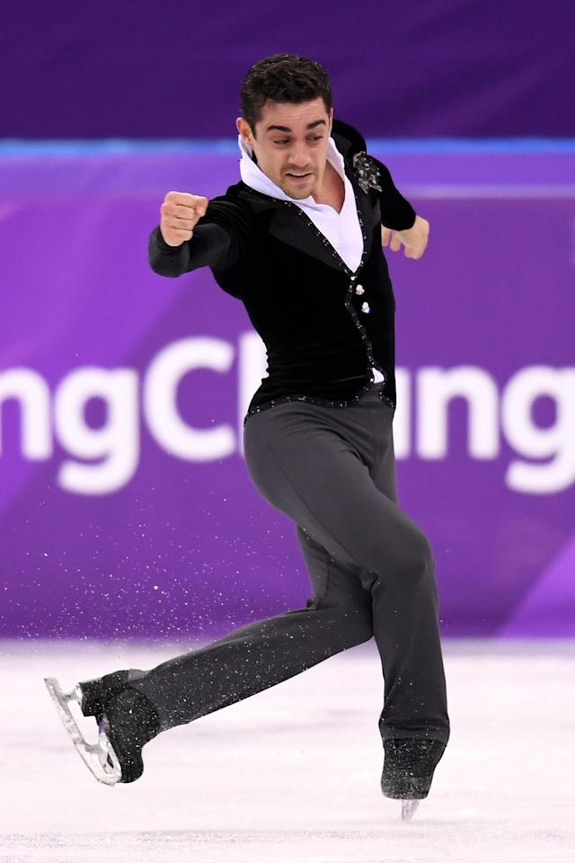 <p>Javier Fernandez of Spain competes during the Men's Single Skating Short Program at Gangneung Ice Arena on February 16, 2018 in Gangneung, South Korea. (Photo by Harry How/Getty Images) </p>