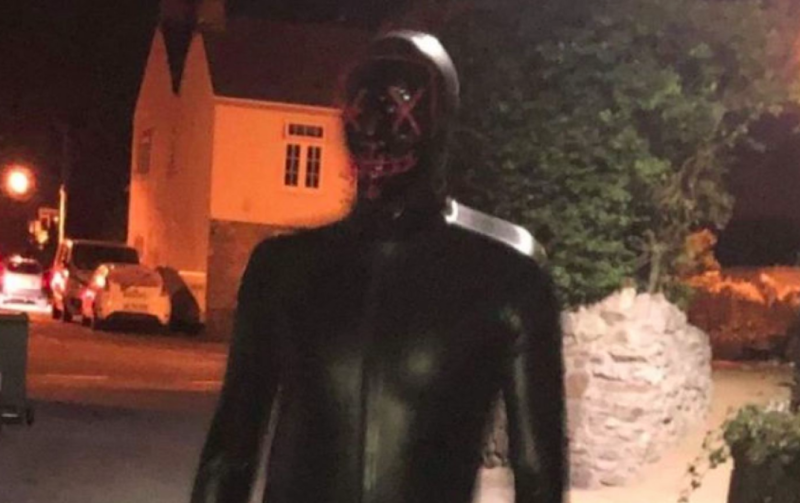 A man was seen in a gimp suit in a village (Picture: Avon & Somerset Police)