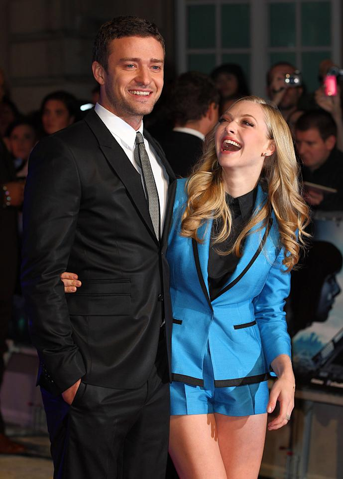 "<a href=""http://movies.yahoo.com/movie/contributor/1802867309"">Justin Timberlake</a> and <a href=""http://movies.yahoo.com/movie/contributor/1808545150"">Amanda Seyfried</a> at the London premiere of <a href=""http://movies.yahoo.com/movie/1810218430/info"">In Time</a> on October 31, 2011."