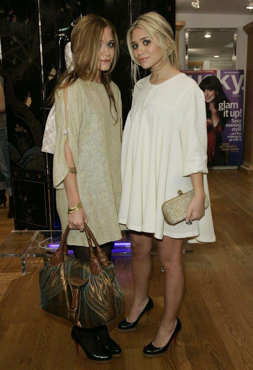 <p>Mary-Kate Olsen and Ashley Olsen were fixtures of the fashion world long before becoming designers themselves. Their neutral cocktail dresses bring the feel of summer to the next season.</p>