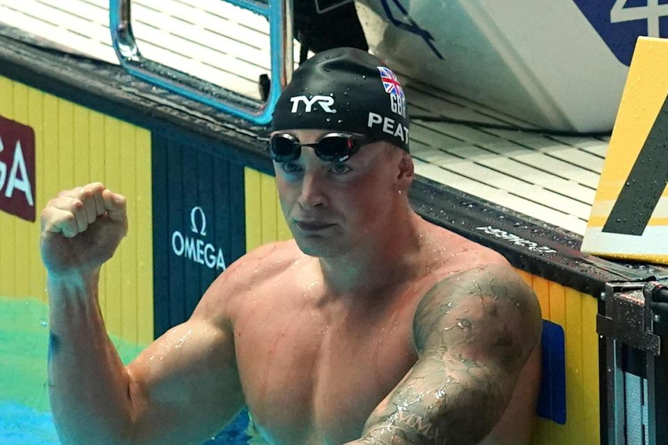"""Adam Peaty has broken his own world record in the men's 100 metre breaststroke at the World Championships in Gwangju, South Korea.Peaty, 24, smashed the previous record of 57.10 seconds he set at last year's European Championships to win in 56.88.In doing so, the Britain achieved one of his career goals of becoming the first man to break the 57-second barrier in the event.Peaty finished close to two seconds ahead of China's Yan Zibei, who finished the first semi-final in second place in 58.67, with fellow Briton James Wilby third in 58.83.Uttoxeter-born Peaty swam the first 50 metres in 26.63 and the second in 30.25, both quicker than his previous world record splits of 26.75 and 30.35.> Want to see @adam_peaty become the first man in history to break 57 seconds 👀pic.twitter.com/7k2m60irqt> > — British Swimming (@britishswimming) > > July 21, 2019He has now swum the event 1.4 seconds faster than anyone else in history and has set the best 16 times ever recorded in the 100m breaststroke.Peaty said: """"It feels incredible! I've been chasing that for three years now ever since I touched the wall in Rio I knew I could go faster.""""I said this morning I wasn't going to chase 56, I was going to let it come to me, and that's exactly what we've done.""""Additional reporting by the Press Association."""