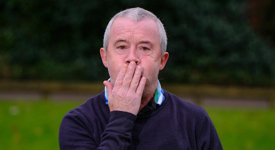 Michael O'Reilly says a cup of tea brought on the constant burping (SWNS)