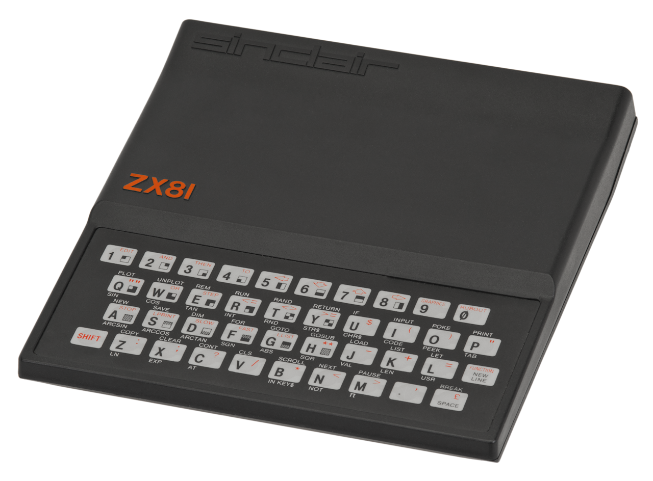 <p>Also launched in 1981, this rudimentary machine was the follow-up to the ZX80. It was developed by Sinclair Research as an affordable way for people to get into home computers. It was rigged up to a TV, rather than a dedicated computer display. (Evan-Amos/Wikipedia) </p>