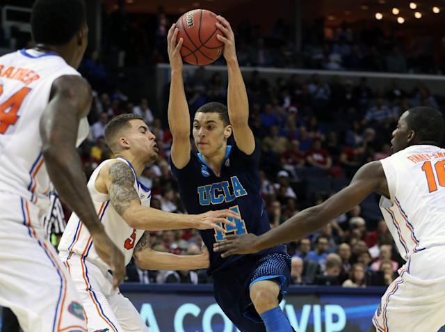 Unhappy with his role at UCLA, freshman Zach LaVine leaves for the NBA