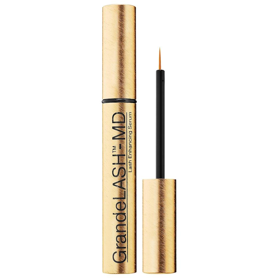 <p>Whether you're just starting out with this bestselling <span>Grande Cosmetics GrandeLash - MD Lash Enhancing Serum</span> ($34-$65) or you're upping your next supply pack, your lashes can be thicker and fuller than ever above your protective mask.</p>