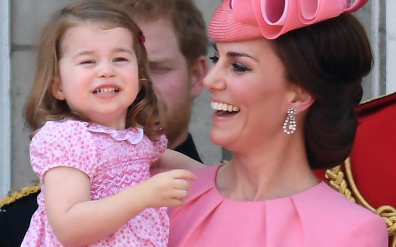 The Duchess of Cambridge and Princess Charlotte watch Trooping the Colour - Credit: James Whatling/James Whatling