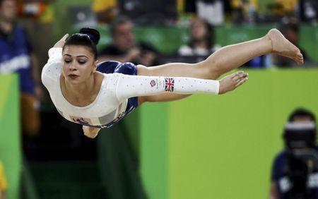FILE PHOTO - 2016 Rio Olympics - Artistic Gymnastics - Final - Women's Team Final - Rio Olympic Arena - Rio de Janeiro, Brazil - 09/08/2016. Claudia Fragapane (GBR) of United Kingdom competes on the floor during the women's team final. REUTERS/Damir Sagolj