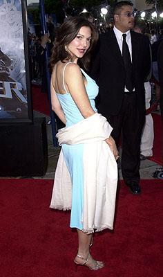 """Premiere: <a href=""""/movie/contributor/1800066849"""">Laura Harring</a> at the Westwood premiere of Paramount's <a href=""""/movie/1804770389/info"""">Lara Croft: Tomb Raider</a> - 6/11/2001<br><font size=""""-1"""">Photo: <a href=""""http://www.wireimage.com"""">Pierre Leloup/Wireimage.com</a></font>"""