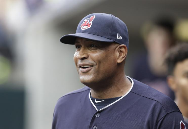 Cleveland Indians first base coach Sandy Alomar Jr. has been a finalist for previous managerial openings. His time should be coming. (AP)