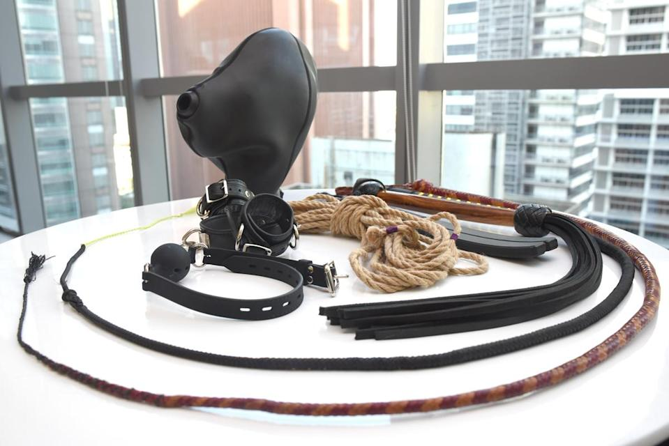 Some toys and tools used in BDSM. (Photo: Yahoo Lifestyle Singapore)