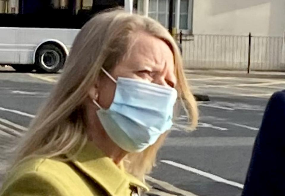 Jane Myhill pictured outside court. (SWNS)