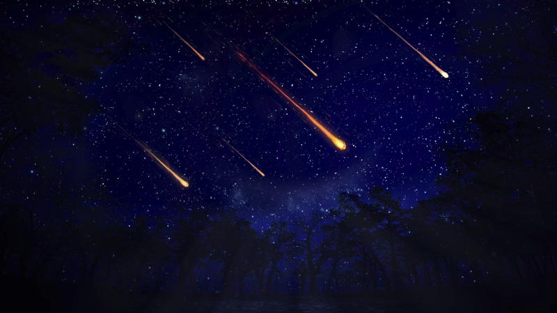 A generic photo of meteors visible in the night sky. The Geminids Meteor shower is particularly special, as people will be able to see multiple meteors every hour and it can be seen every year in December.